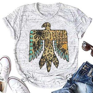Roam Free Leopard Print Boho Graphic T-Shirt